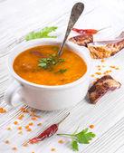 Soup of bulgur — Stock Photo