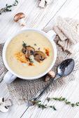 Champignons mushroom soup — Stock Photo