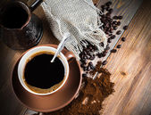 Turk y café — Foto de Stock
