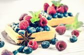 Berry tarts — Stock Photo