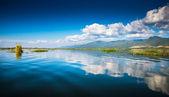 Waving lake — Стоковое фото