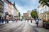 Lviv main square — Stock Photo