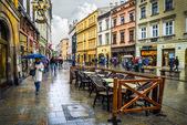 Krakow old streets — Stock Photo