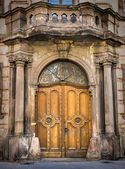 Old European-style doors — Stock Photo