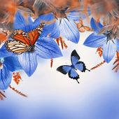 Bells and butterflies — Stock Photo