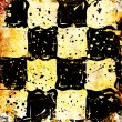 Grungy chessboard background with stains — Stock Photo