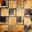 Grungy chessboard background with stains — Foto de Stock