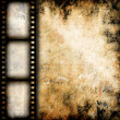 Vintage background with film flame — Stock Photo #12624637