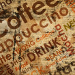 Sorts of coffe on wood background — Stock Photo #12624855