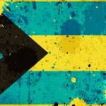 Grunge Bahamas flag — Stock Photo