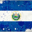 Grunge El Salvador flag with stains — Foto Stock