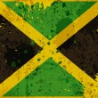 Grunge Jamaica flag  — Stock Photo