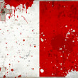 Grunge Malta flag with stains — Stock Photo