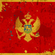 Grunge Montenegro flag with stains — Stock Photo