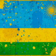 Grunge Rwanda flag with stains - Stock Photo