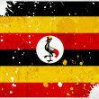 Grunge Uganda flag with stains - Stock Photo