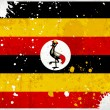 Royalty-Free Stock Photo: Grunge Uganda flag with stains