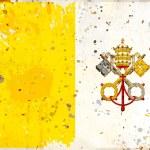 Grunge Vatican flag — Stock Photo