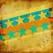 Färgglada grunge bakgrund med stjärnor — Stockfoto