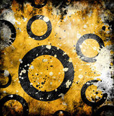 Abstract background with circles on grunge background — Stock Photo