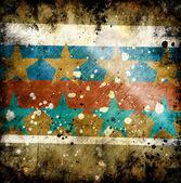 Sfondo grunge colorato con stelle — Foto Stock