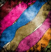Fondo grunge con manchas de pintura abstracta y líneas de color — Foto de Stock