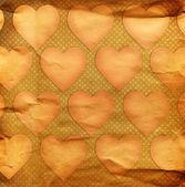 Hearts on grunge — Stock Photo