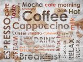 Tipos de café com manchas de café — Foto Stock