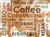 Kahve bir türlü süt lekeleri ile — Stok fotoğraf