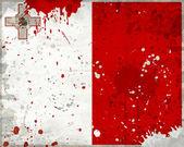 Grunge malty vlajka s skvrny — Stock fotografie