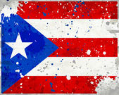 Grunge-puerto rico-flag mit flecken — Stockfoto