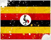 Grunge Uganda flag with stains — Stock Photo