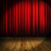 Red curtain with place for text — Stockfoto