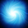Abstract blue spiral over dark background — Stock Photo #13616588