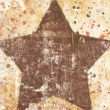 Star on grunge background — Foto de Stock