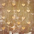 Abstract hearts on vintage background — Stock Photo