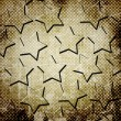 Abstract stars on grunge background — Stock Photo