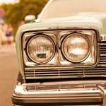 Photo of retro car headlights — Stock Photo