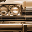 Photo of retro car headlights — Stock Photo #13620981