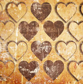Hearts on grunge — Stock Photo