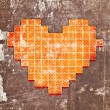 Abstract heart made from squares — Stock Photo