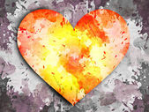 Abstract grunge background with heart — Stock Photo