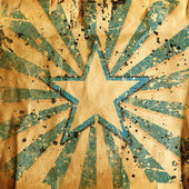 Grunge star with abstract stains — Stock Photo