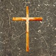 Cross on abstract grunge background — Foto Stock