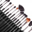 Professional cosmetic brushes — Stock Photo