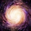 Spiral galaxy in space - Stock Photo