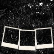 Three photo frames on grunge background — Stock Photo