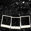 Stock Photo: Three photo frames on grunge background