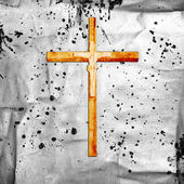 Cross on abstract grunge background — Stock Photo