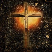 Cross on paper background — Stock Photo